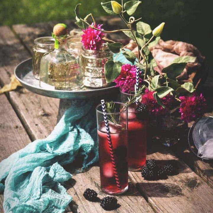 Rosemary Blackberry Cocktail