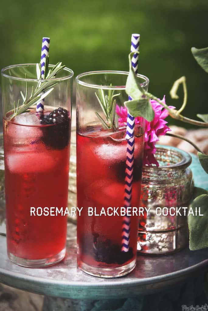 Rosemary Blackberry Cocktail| Kita Roberts PassTheSushi.com