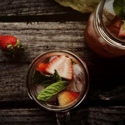 Mint Strawberry Crush Cocktail