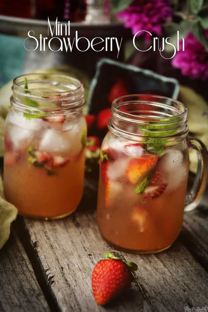 Mint Strawberry Crush Cocktail | Kita Roberts PassTheSushi.com