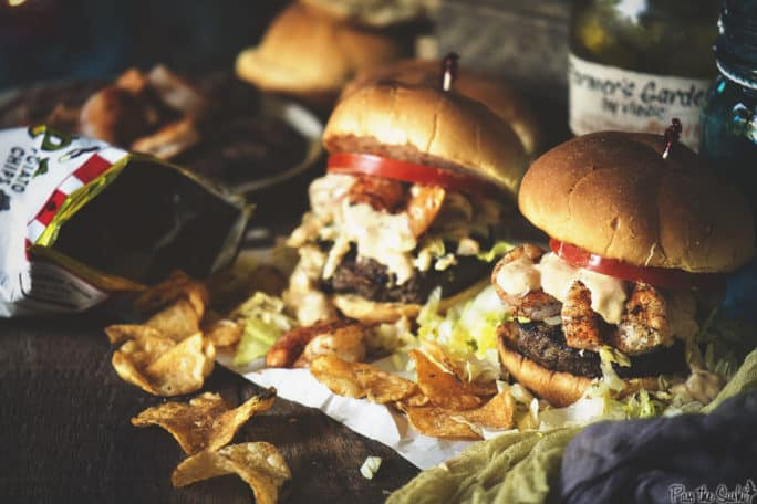 Shrimp Po Boy Burgers | Kita Roberts PassTheSushi.com