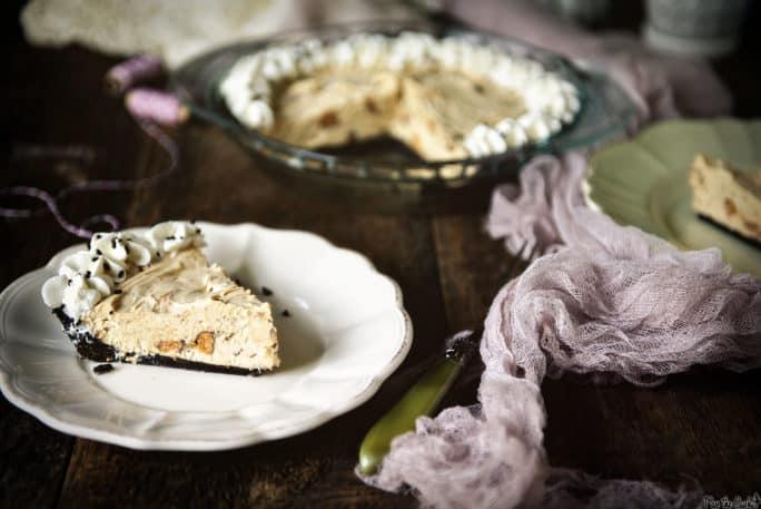 Double Peanut Butter Butterfinger Pie | Kita Roberts PassTheSushi.com