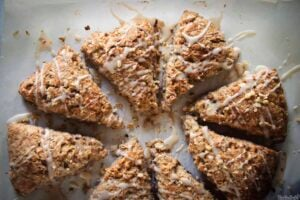 Banana Bread Scones with Maple Glaze | Kita Roberts PassTheSushi.com