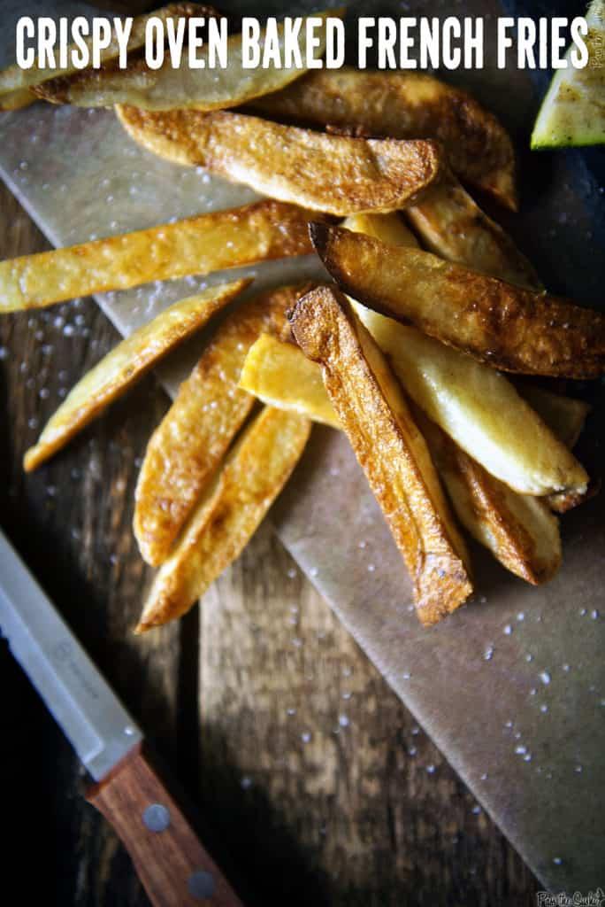 Crispy Oven Baked French Fries | Kita Roberts PassTheSushi.com