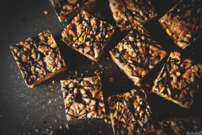 Dark Chocolate Peanut Butter Krispie Treats | Kita Roberts PassTheSushi.com