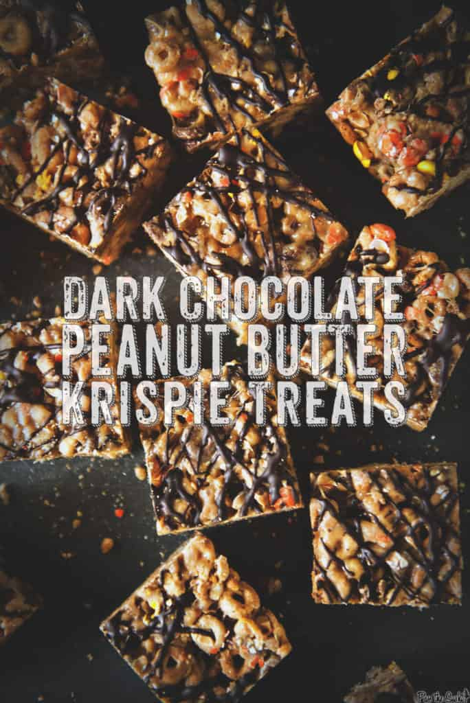 Dark Chocolate Peanut Butter Krispie Treats | Kita Roberts PassTheSushi