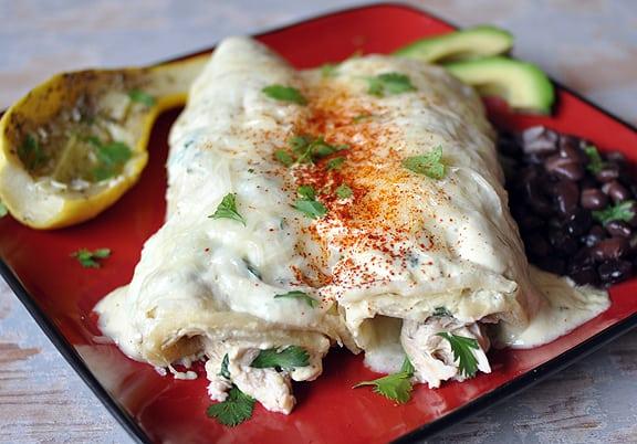 Sour-cream-chicken-enchiladas
