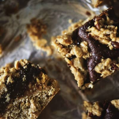 Chocolate Layer Oat Bars for Two