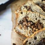 Banana Peanut Butter Swirl Bread \ PasstheSushi.com