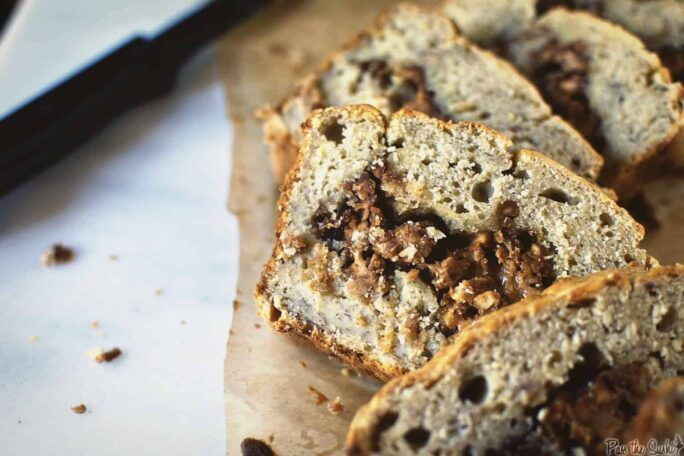 Banana Peanut Butter Swirl Bread | Kita Roberts PassTheSushi.com