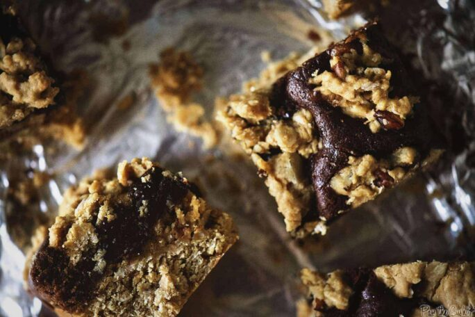 Chocolate Layer Oat Bars for Two | Kita Roberts PassTheSushi.com