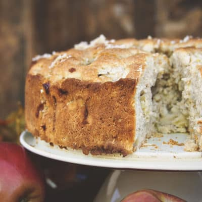 Irish Apple Cake with Boozy Custard