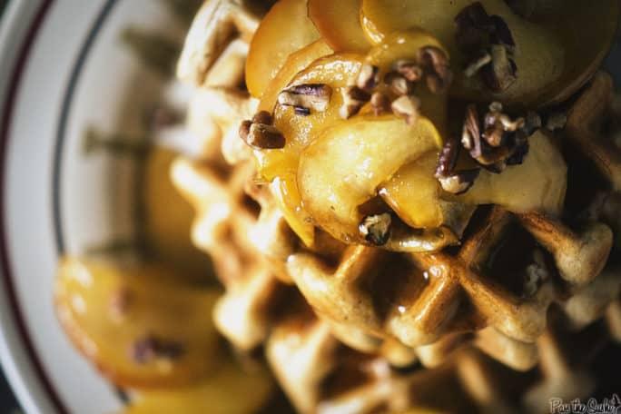 Apple Pie Waffles | Kita Roberts PassTheSushi.com