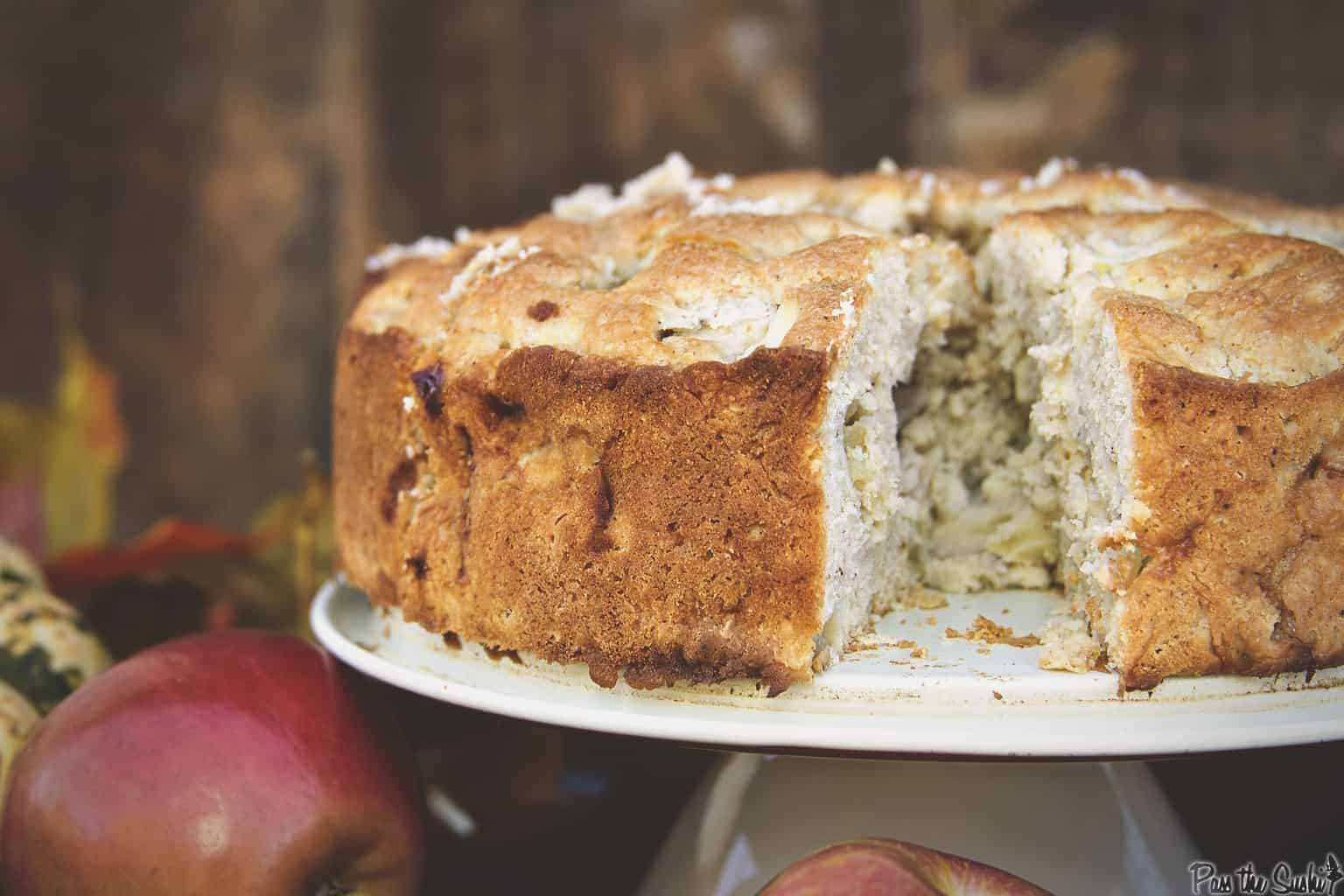 Irish Apple Cake with Boozy Custard | Kita Roberts PassTheSushi.com