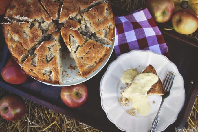 Irish Apple Cake with Boozy Custard | Kita Roberts PassTheSushi.com