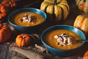 Roasted Butternut Squash Soup with Apple-Cranberry Relish | Kita Roberts PassTheSushi.com