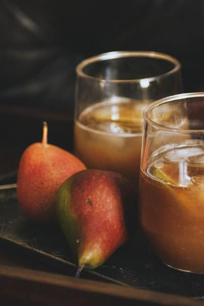 Pear-Ginger Rum Runner Cocktail