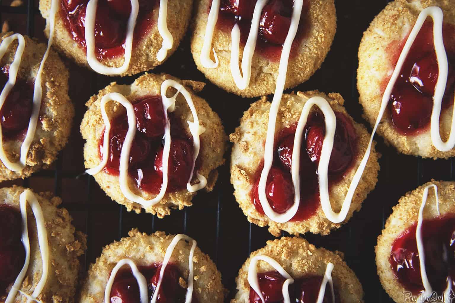 Cherry Cheesecake Cookies | Kita Roberts PassTheSushi.com