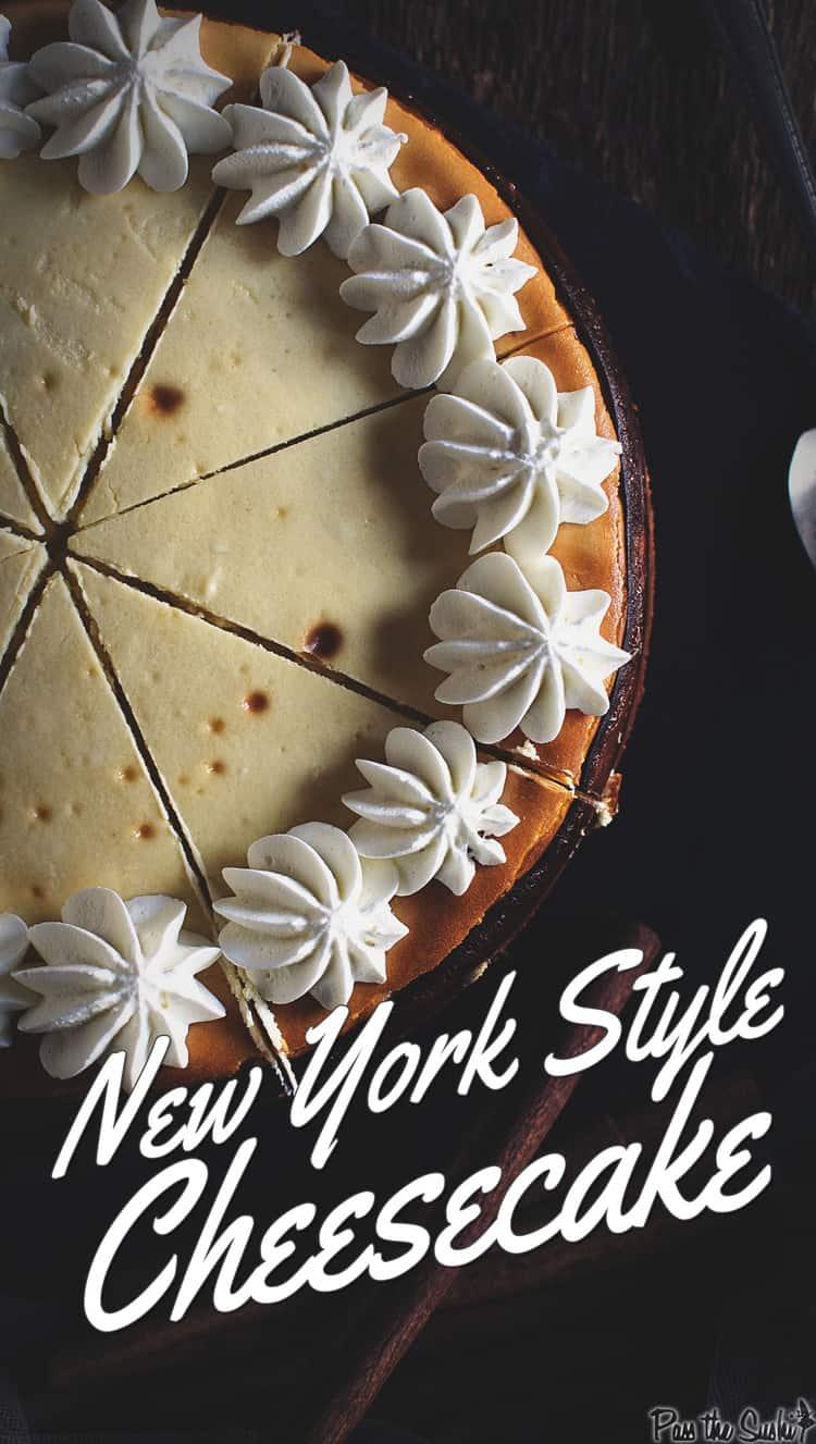 Classic New York Cheesecake | Kita Roberts PassTheSushi.com
