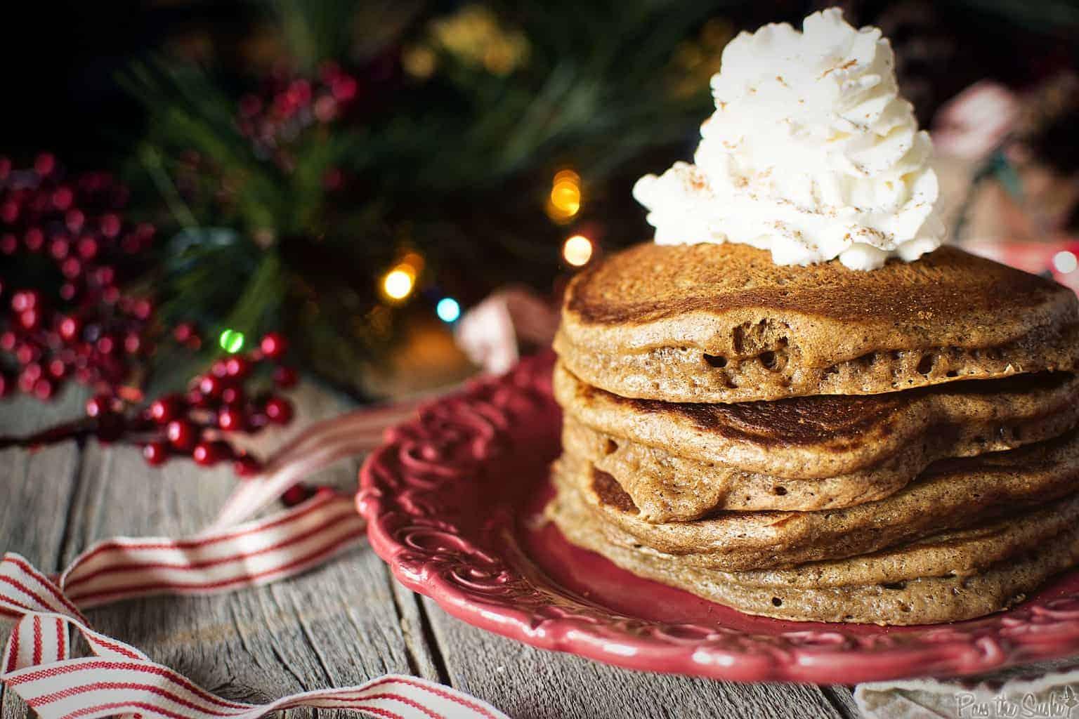 Gingerbread Pancakes | Kita Roberts PassTheSushi.com