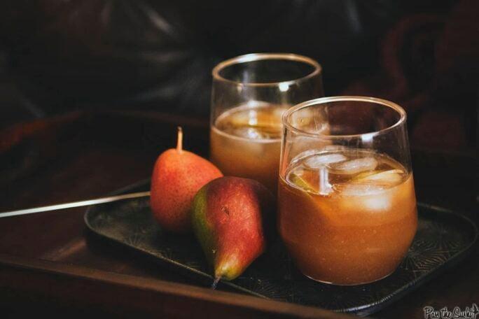 Pear-Ginger Rum Runner Cocktail | Kita Roberts PassTheSushi.com