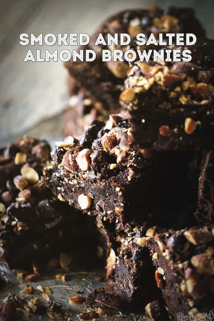 Smoked and Salted Almond Brownies | Kita Roberts PassTheSushi.com