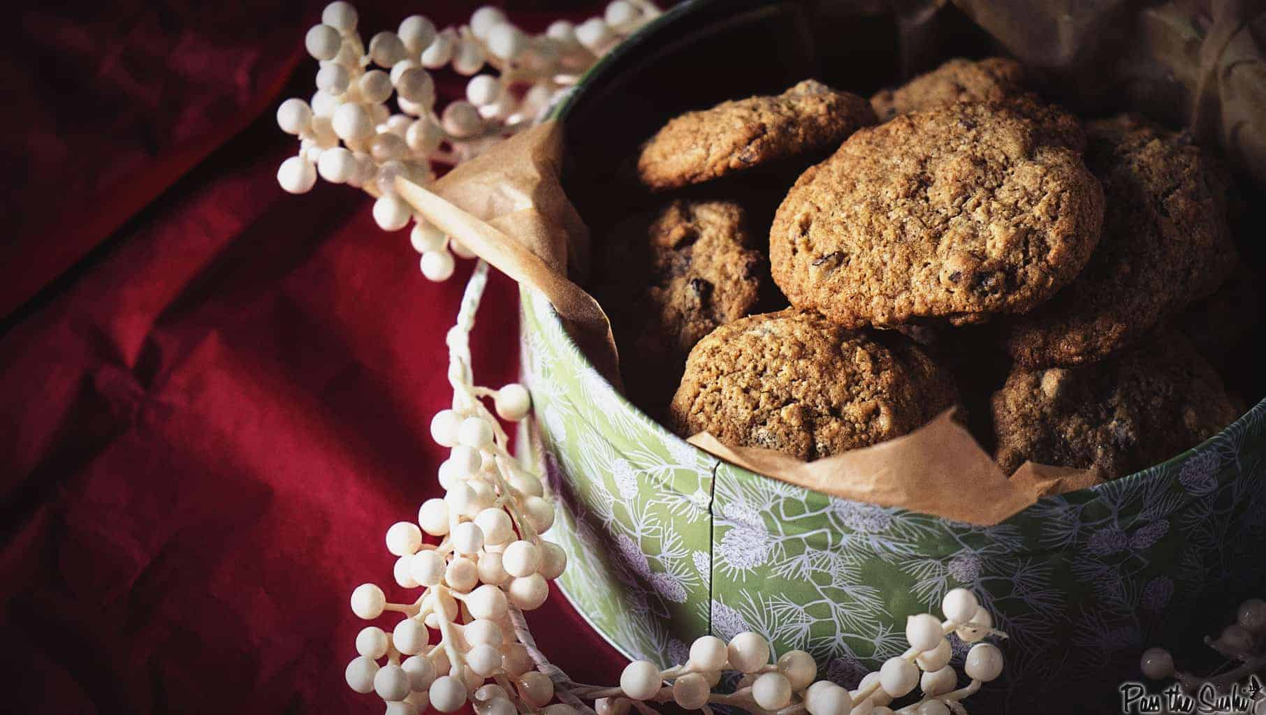 Whole Wheat Chocolate Chip Oatmeal Cookies | Kita Roberts PassTheSushi.com