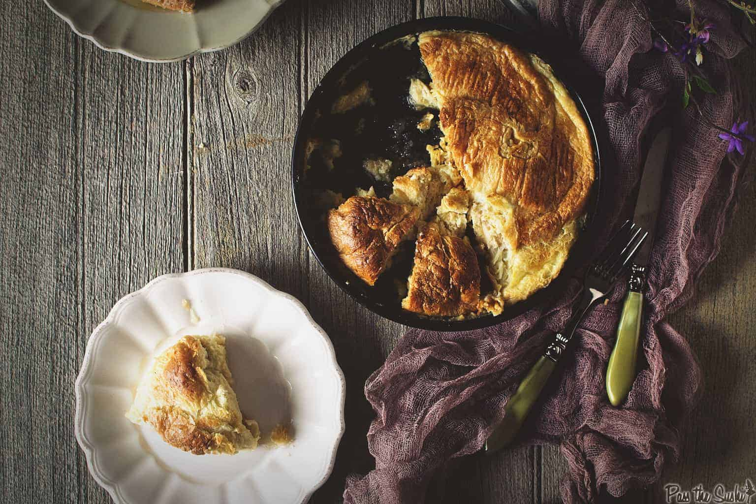 Baked Croissant French Toast | Kita Roberts PassTheSushi.com