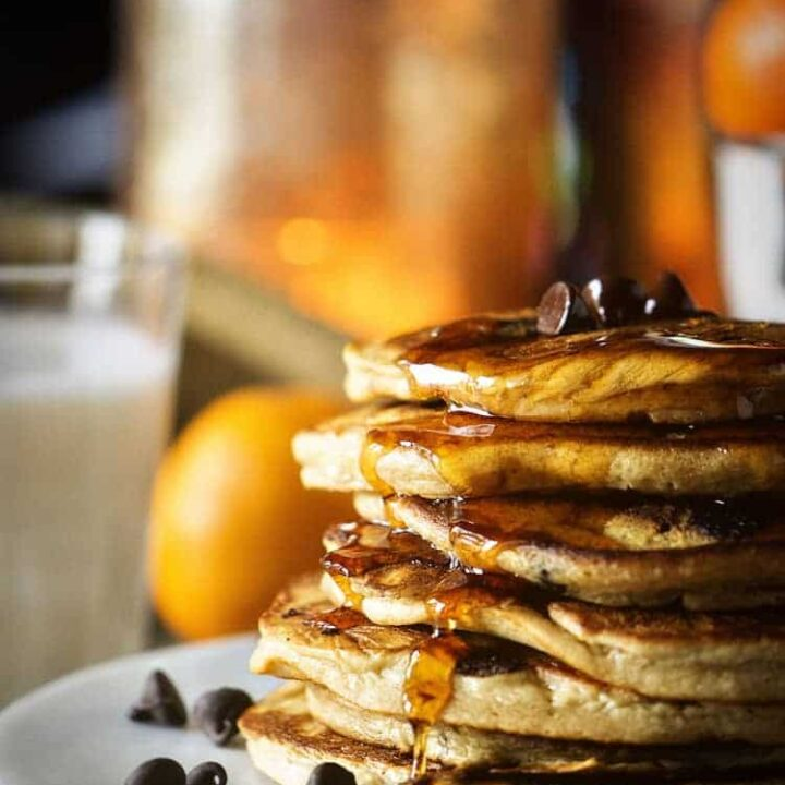 Oatmeal Chocolate Chip Pancakes   Kita Roberts PassTheSushi.com