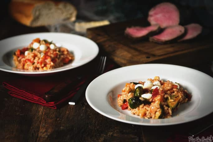Oven Roasted Fall Veggie Risotto | Kita Roberts PassTheSushi.com