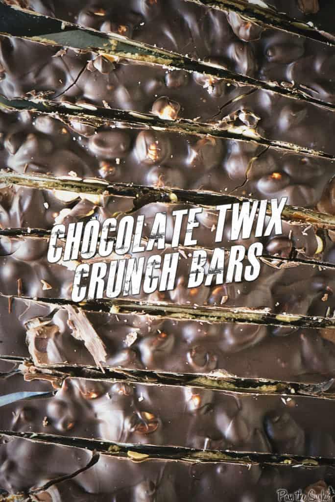 Chocolate Twix Crunch Bars | Kita Roberts PassTheSushi.com