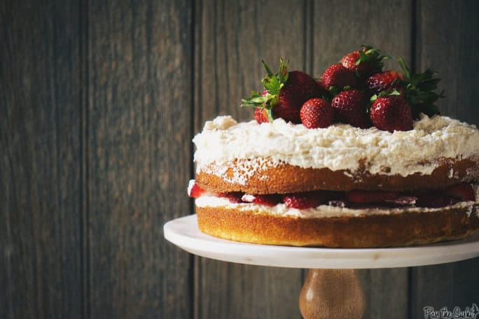 Strawberry Layer Cake | Kita Roberts PassTheSushi.com