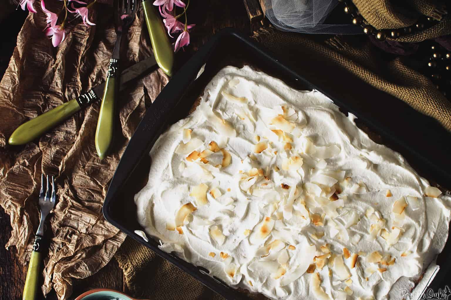 Coconut Tres Leches Cake | Kita Roberts PassTheSushi.com