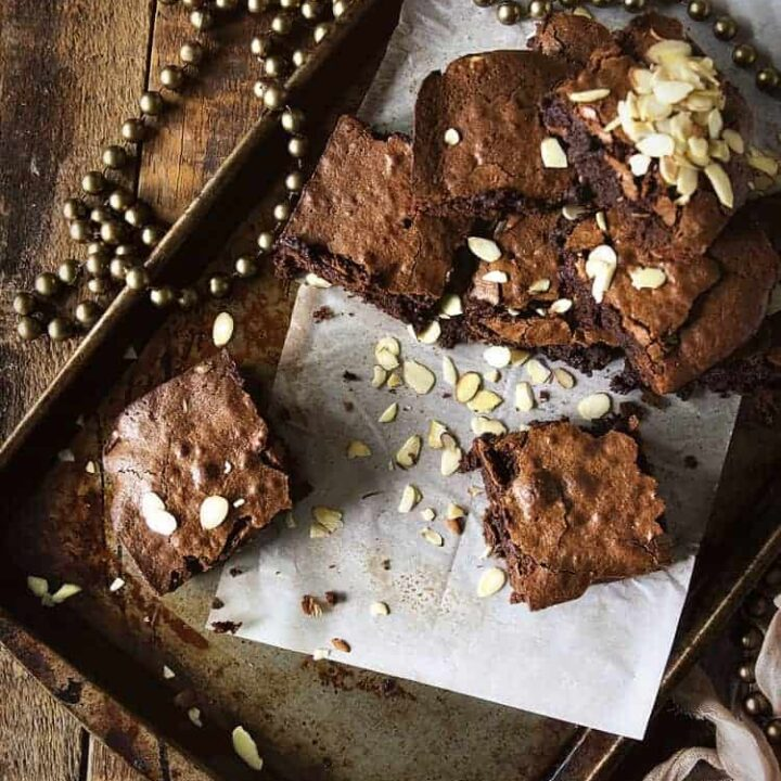 Fudgy Amaretto Brownies
