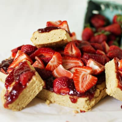 Strawberry Peanut Butter Bars