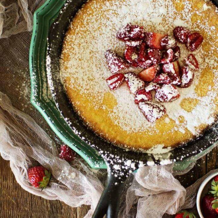 Skillet Puff Pancake Recipe | Kita Roberts PassTheSushi.com