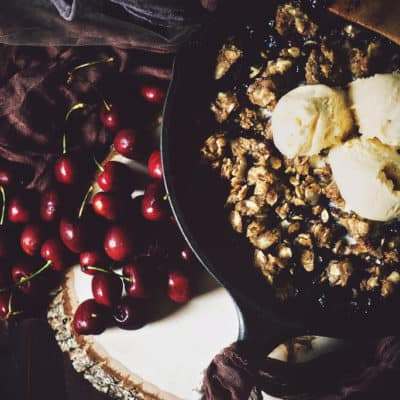 Campfire No Bake Cherry Crisp