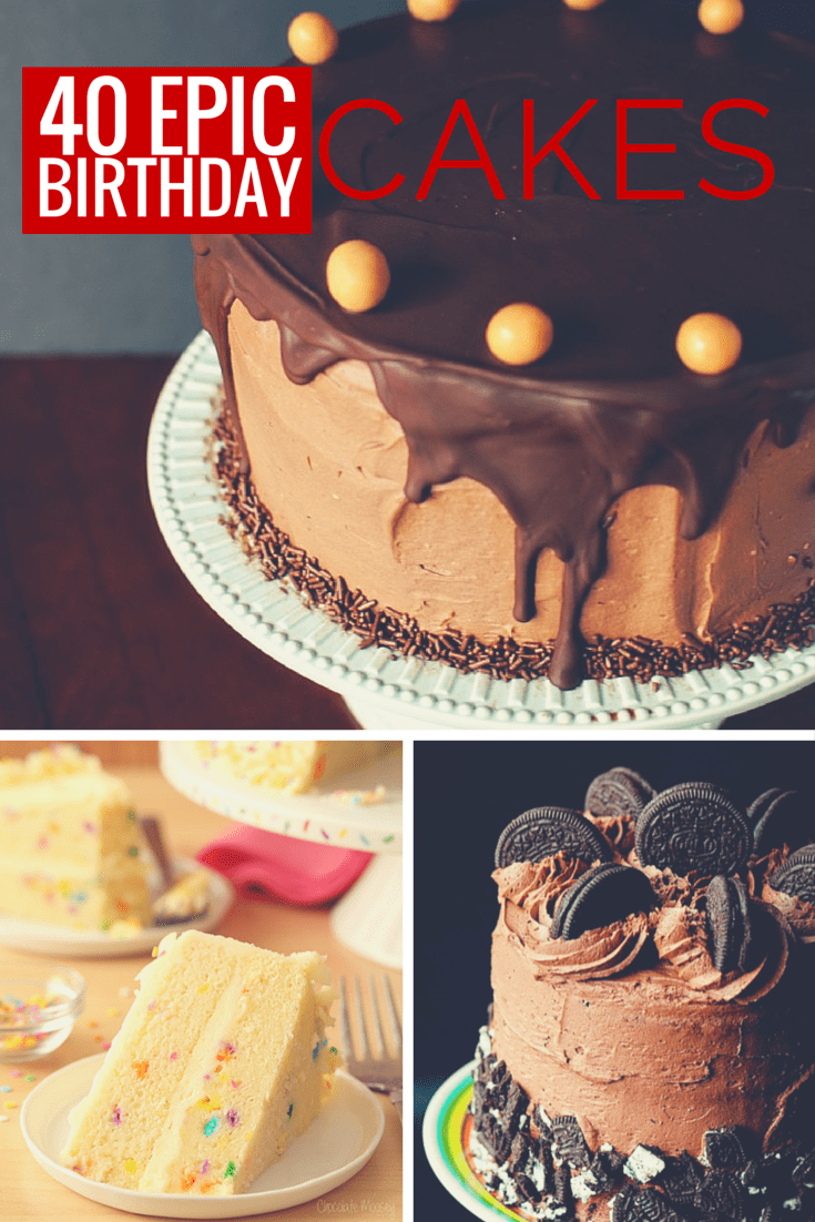 40 Epic Birthday cakes to inspire and step up your next baked creation \\ PasstheSushi.com
