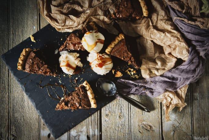 Brownie Walnut Pie Recipe | Kita Roberts PassTheSushi.com