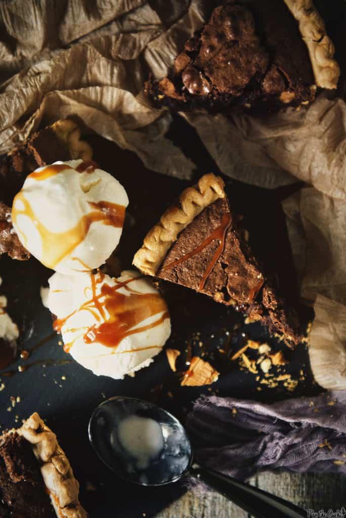 Brownie Walnut Pie Recipe | Kita Roberts PassTheSushi