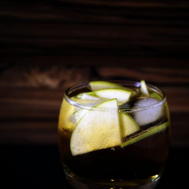 Autumn Stone Fence Cocktail Recipe | Kita Roberts PassTheSushi