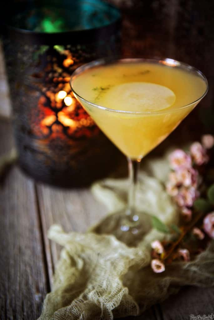 Pear Martini Cocktail Recipe | Kita Roberts PassTheSushi