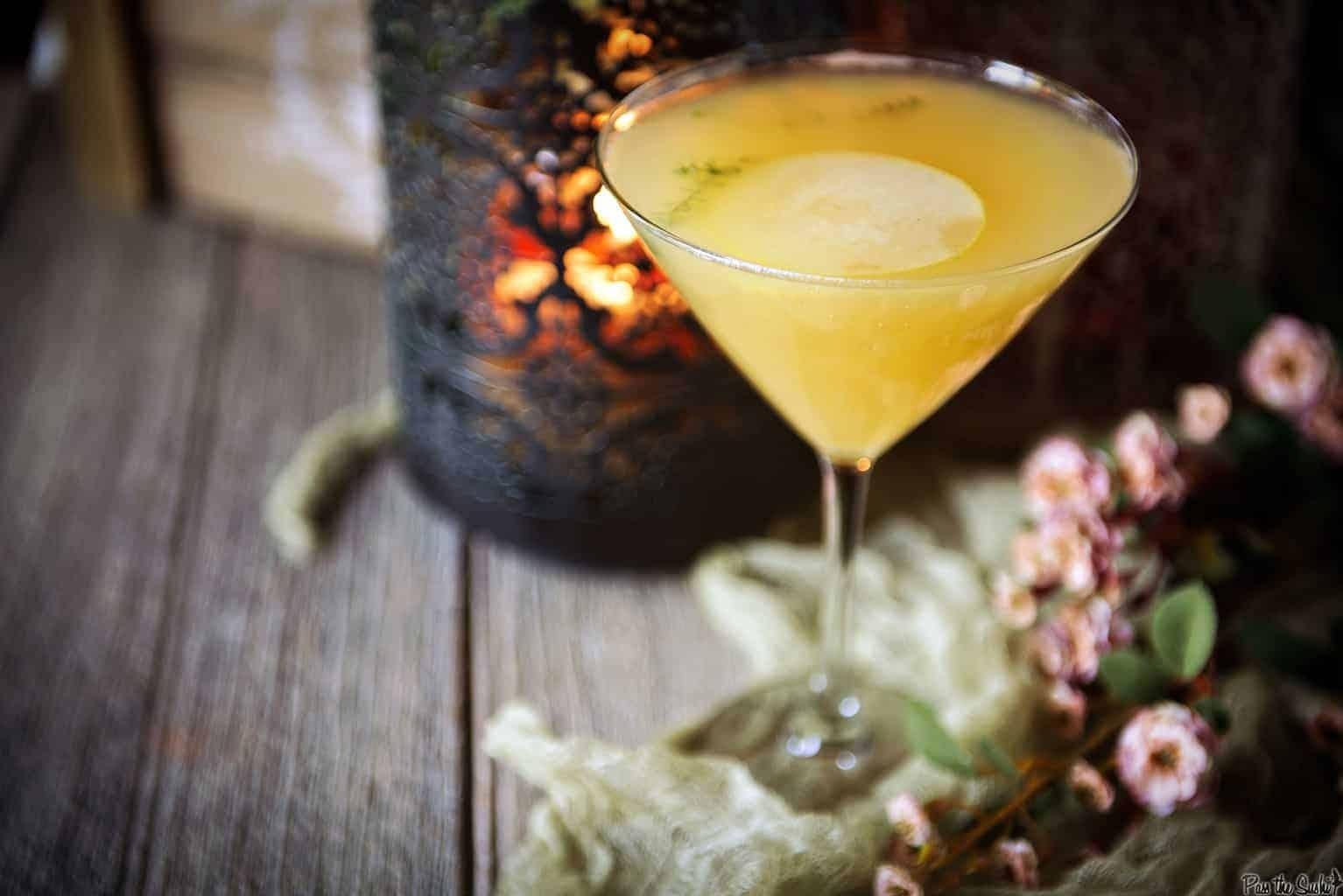 Pear Martini Cocktail Recipe   Kita Roberts PassTheSushi.com