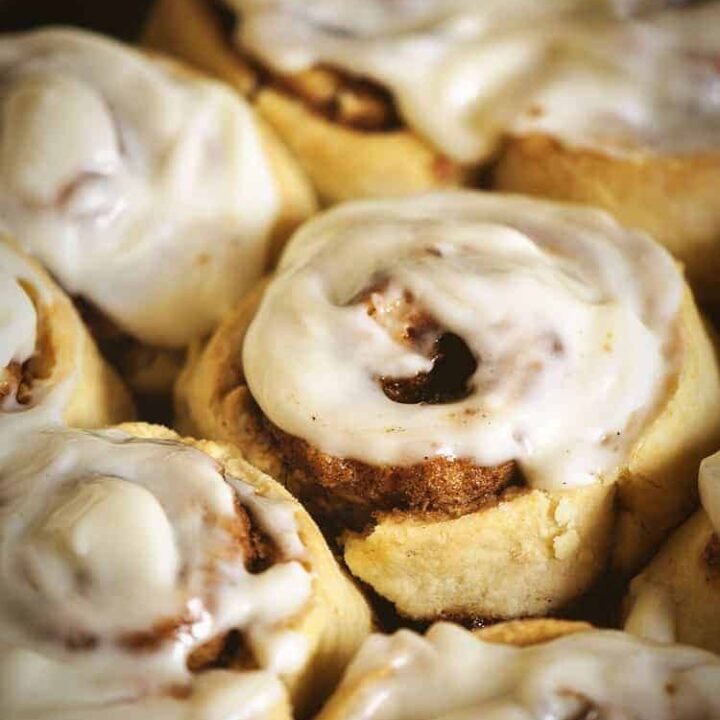 Quick Maple Cinnamon Rolls
