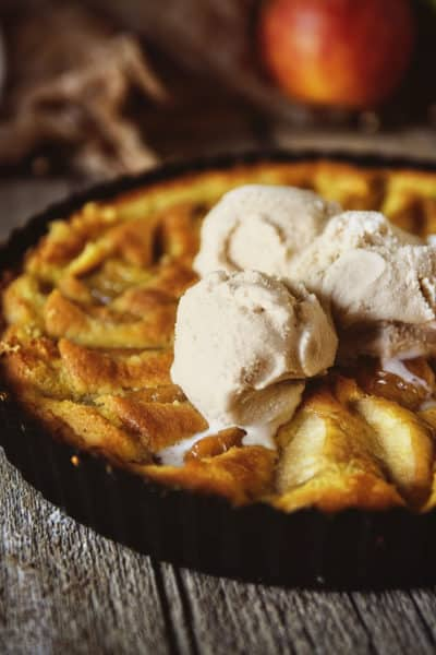 Apple and Browned Butter Custard Tart