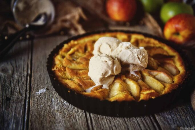 Apple and Browned Butter Custard Tart | Kita Roberts PassTheSushi.com