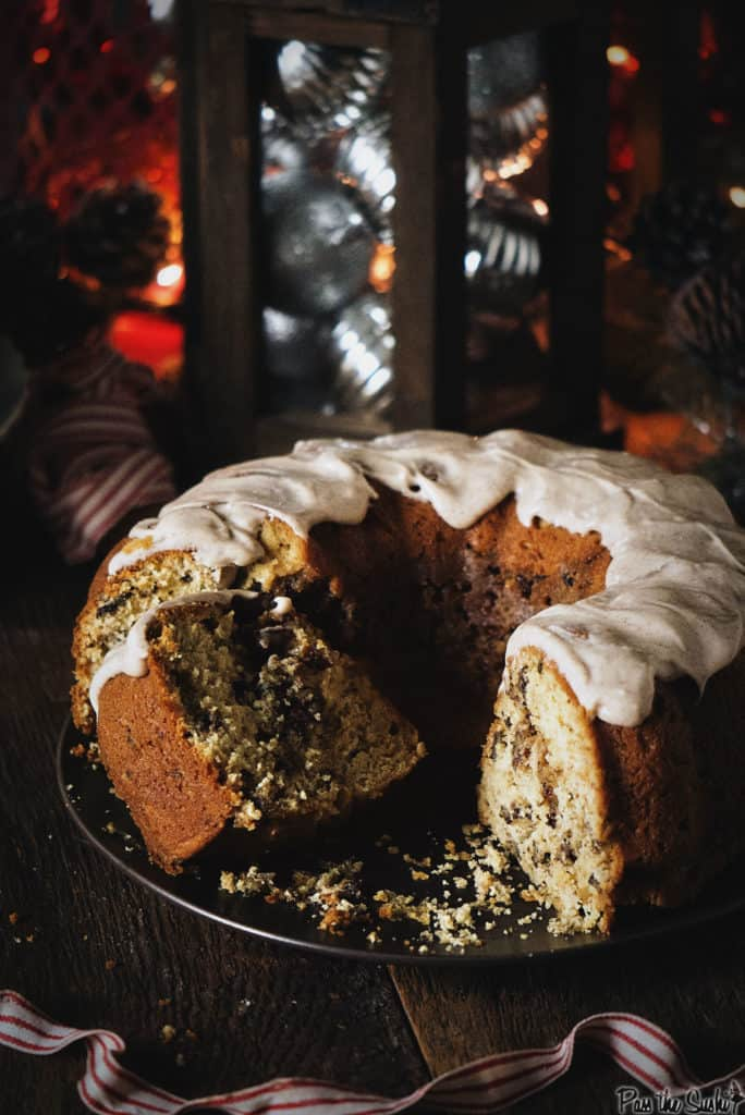 Browned Butter Coffee Cake with Spiced Maple Cream Cheese Frosting | Kita Roberts PassTheSushi.com