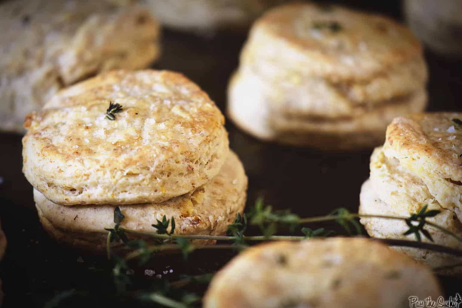 Herbed Thyme and Lemon Biscuits | Kita Roberts PassTheSushi.com