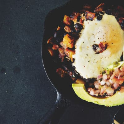 Healthy Tex-Mex Hash Browns with Eggs