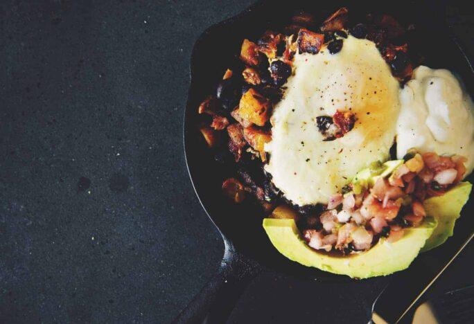 Healthy Tex-Mex Hash Browns with Eggs | Kita Roberts PassTheSushi.com